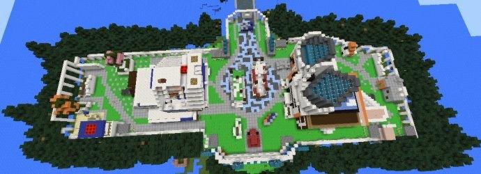 Вид на карту сверху, видны все здания