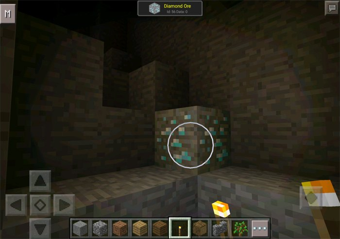 Просмотр Айди алмазной руды в игре