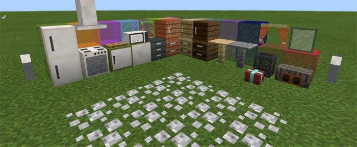 Все предметы из мода: шкафы, столы, светильники и тд.