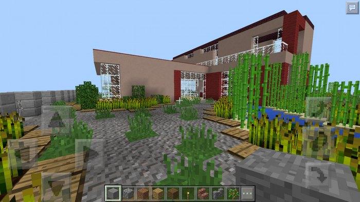 Внутренний двор - дорожка и растения
