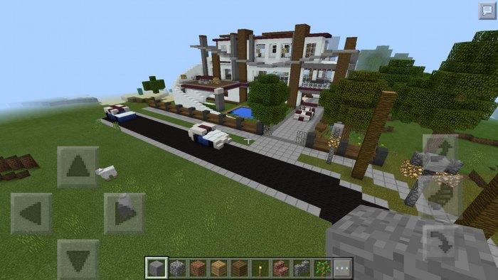 Дорога ведущая к поместью с машиной на ней