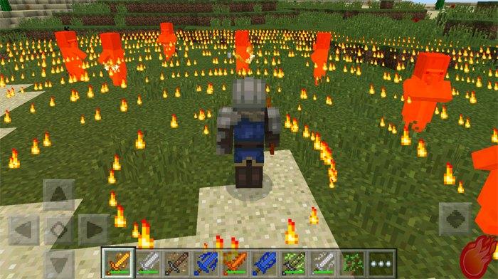 Огненный меч - создает вокруг игрока круги огня