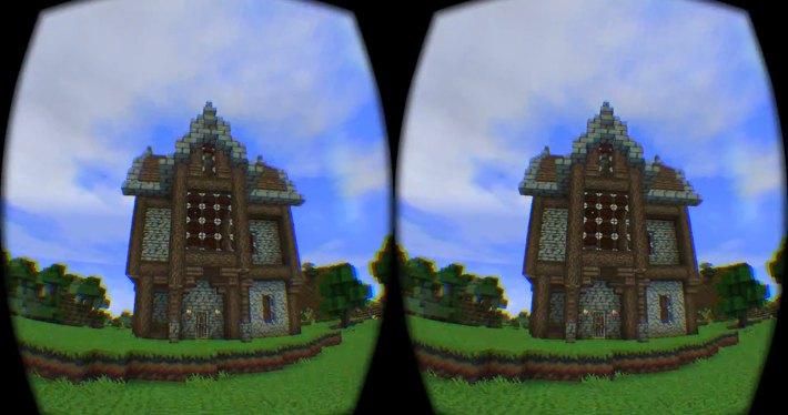Так выглядит мир Майнкрафта сквозь очки виртуальной реальности