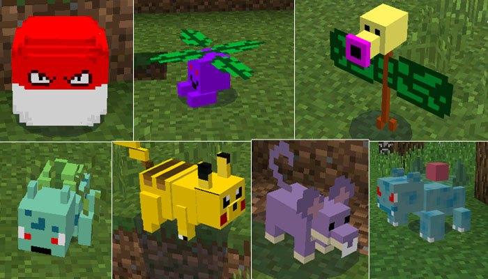 Разные виды покемонов, которых можно будет встретить в игре