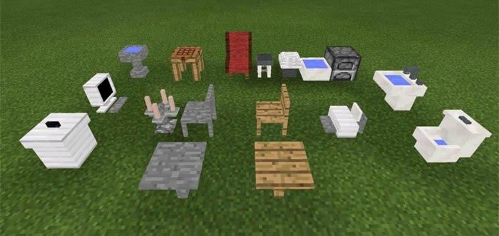 Столы, стулья и другая мебель которая представлена в моде