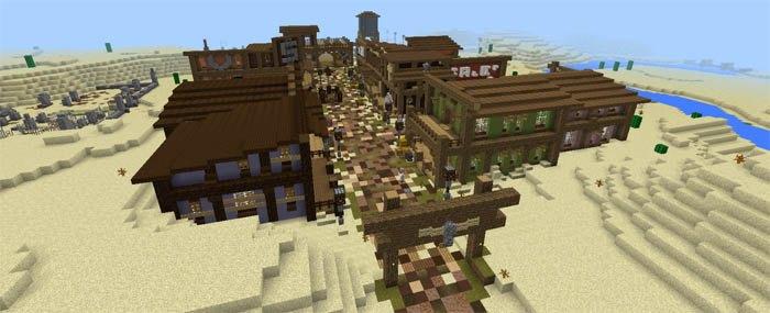 Небольшой городок на Диком западе