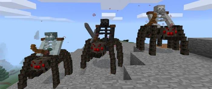 Скелеты мутанты верхом на гигантских пауках