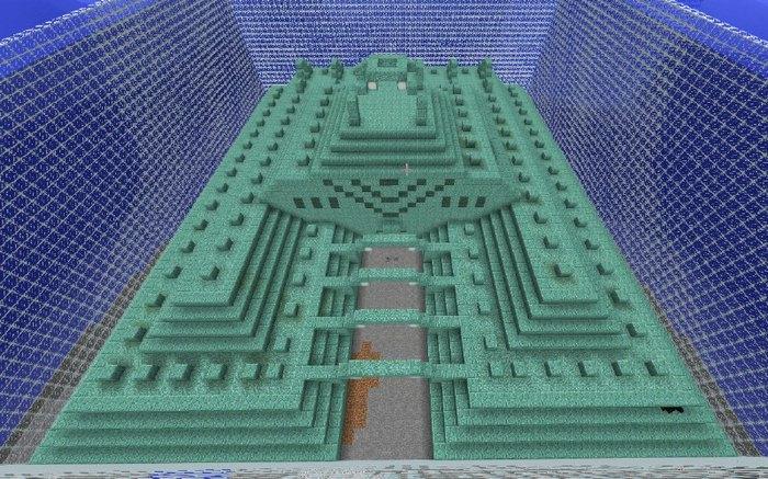 Подводная крепость, которая была добавлена в Minecraft 0.15.9