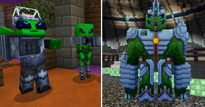 Так будут выглядеть пришельцы, которые вторглись в Майнкрафт