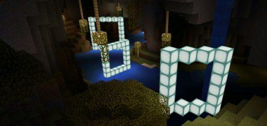 Пролетайте сквозь светящиеся блоки, чтобы пройти карту
