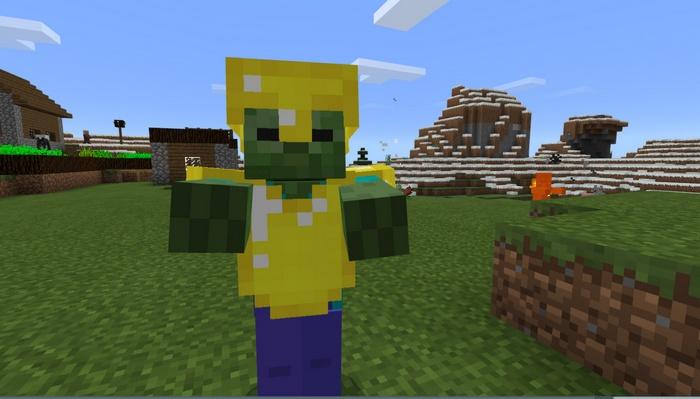 Хардкорный зомби в золотой броне