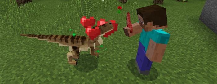 Приручайте детенышей динозавров с помощью мяса