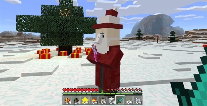 Дед мороз в Майнкрафт ПЕ