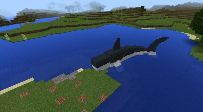 Большой кит-убийца в Майнкрафте