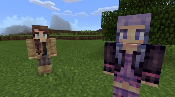 Вы сможете встретить разные типы девушек в Майнкрафте