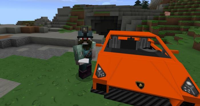 Игрок рядом с автомобилем