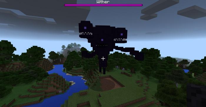 Трехглавый Иссушитель - самый сильный босс в Minecraft