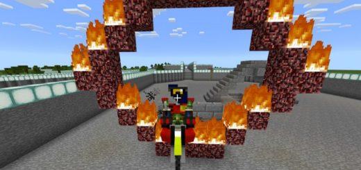 Прыжок на мотоцикле через огненное кольцо