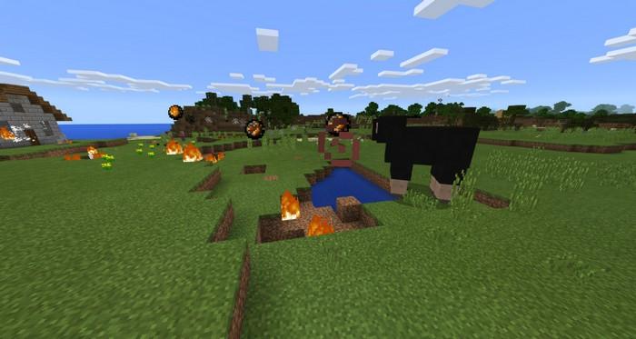 Черная овечка, которая метает огненные шары, босс