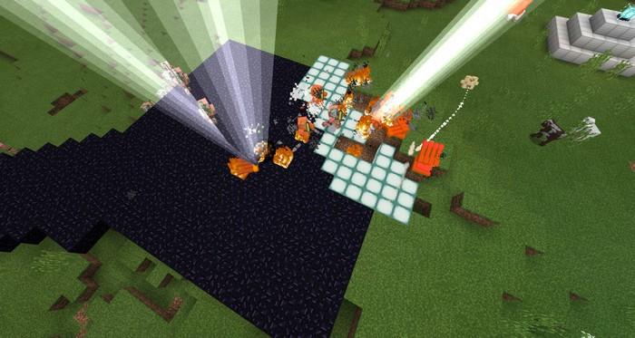 Пушки ведут огонь по свино-зомби молниями