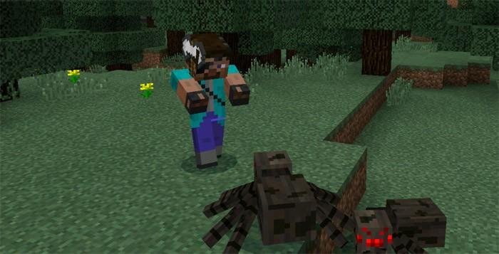 Воин атакует паука