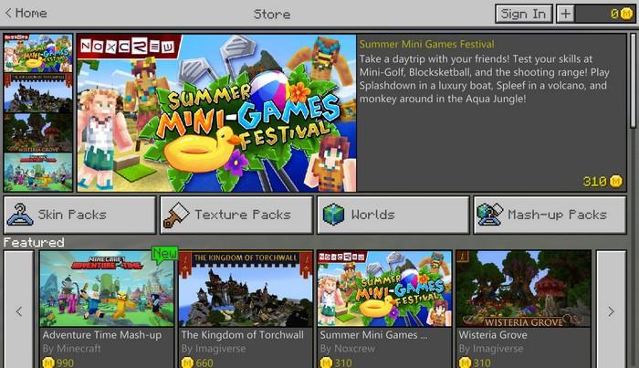 Новый вид магазина в игре