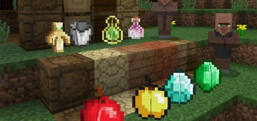 Декоративные блоки которые выглядят как предметы: яблоко, алмаз, изумруд