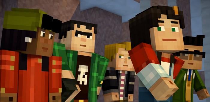 графика из Minecraft Story Mode