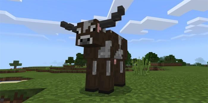 Корова с рогами