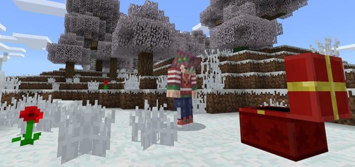 Зима повсюду в Майнкрафте