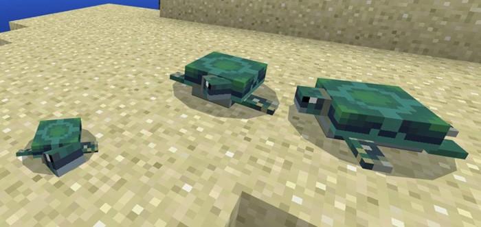 Черепахи в Майнкрафте