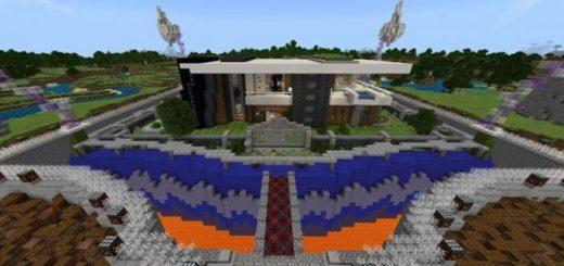 Дом окружен рвом с лавой
