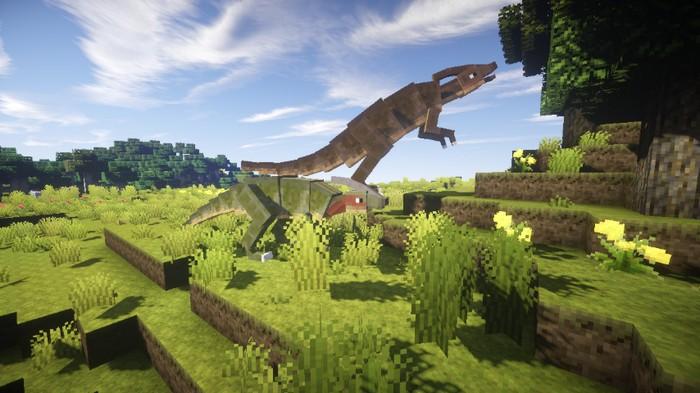 Динозавры в Майнкрафт