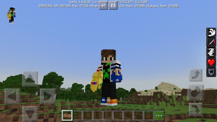 Скачать мод ThanosGauntlet для Minecraft PE 1.7.0